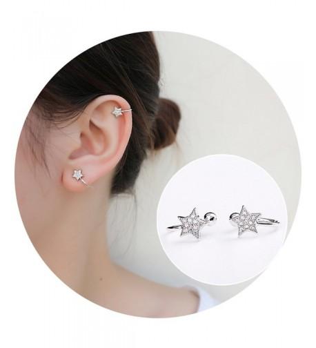 Aifeer Sterling Earrings Sparkling Rhinestone