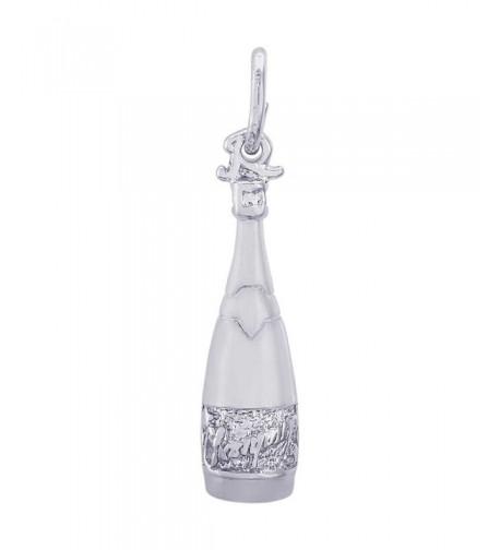 Rembrandt Charms Champagne Bottle Sterling