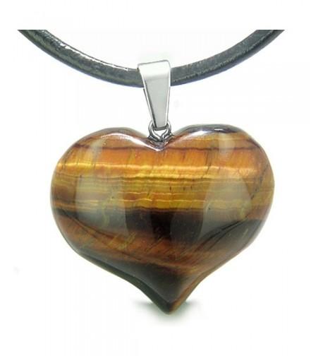 Gemstone Healing Leather Pendant Necklace