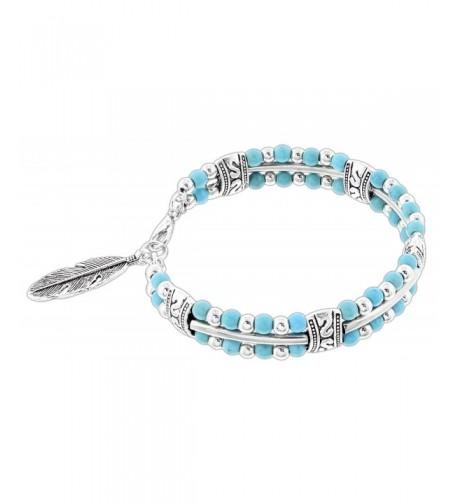 Joy Giving Turquoise Silver Tone Bracelet