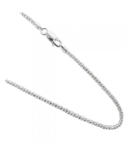 Pop corn Italian Sterling Silver Necklace