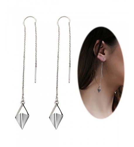 Threader Earring Chandelier Triangle Crystal