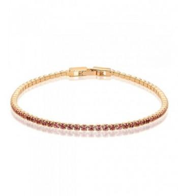 Tiny Plated Crystals Tennis Bracelet