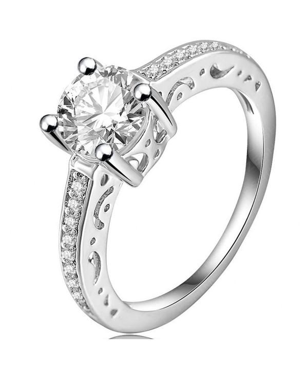 FENDINA Luxurious Engagement Solitaire Anniversary