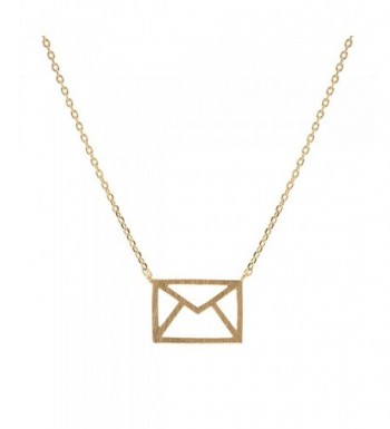 chelseachicNYC Handcrafted Brushed Envelope Necklace