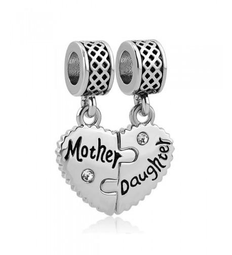 LovelyCharms Mother Daughter European Bracelets