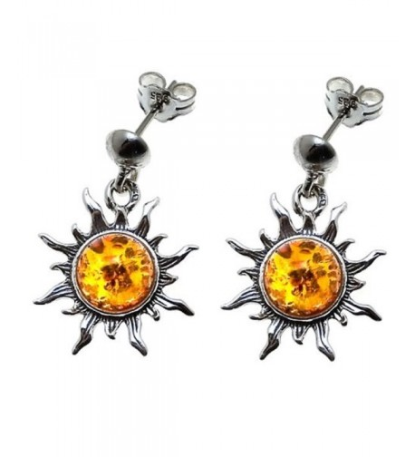 Sterling Silver Flaming Dangle Earrings