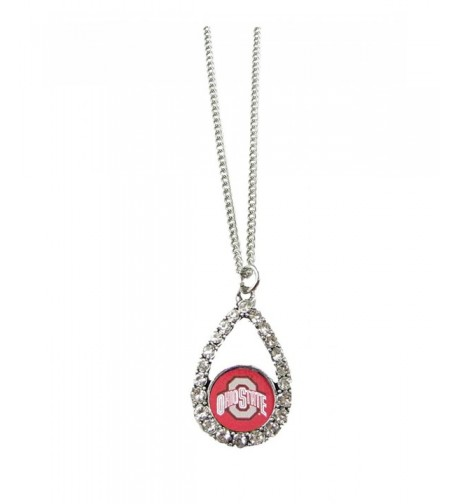 Buckeyes Teardrop Crystal Necklace Jewelry