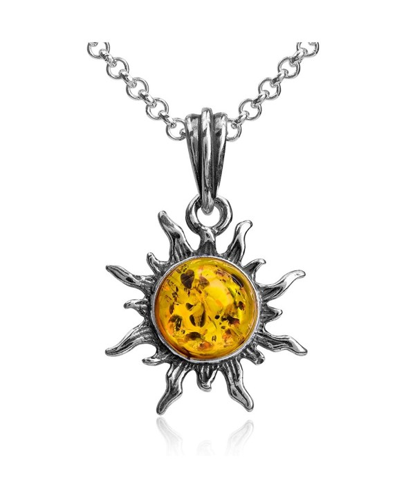Sterling Silver Flaming Pendant Necklace