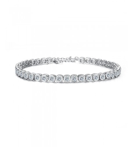 EVER FAITH Sterling Channel Set Bracelet