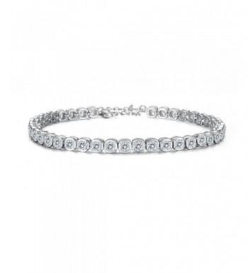 EVER FAITH Sterling Channel Set Bracelet