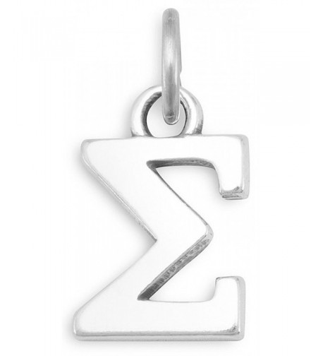 Sterling Silver Charm Greek Letter