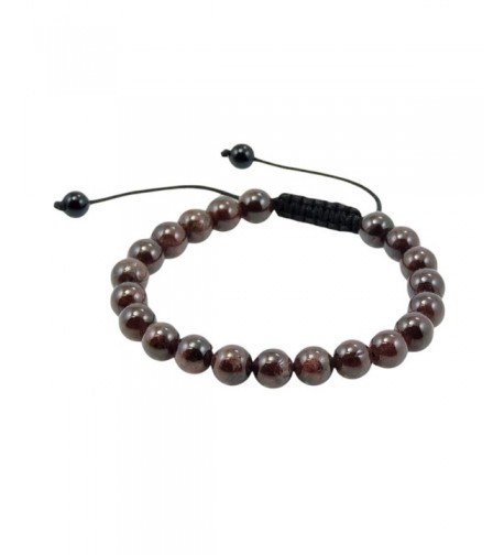 Tibetan Garnet Beads Bracelet Meditation
