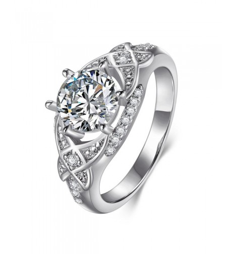 Womens Cubic Zirconia Wedding Engagement