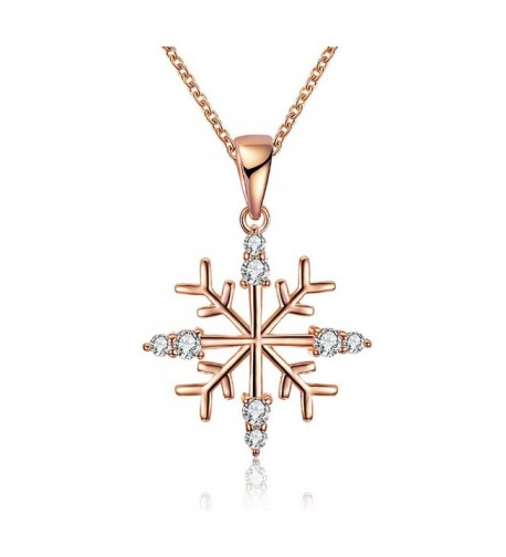 KAVANI Snowflake Pendant Necklace Christmas