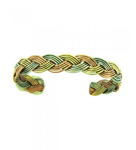 Navajo Artist Copper Braided Bracelet