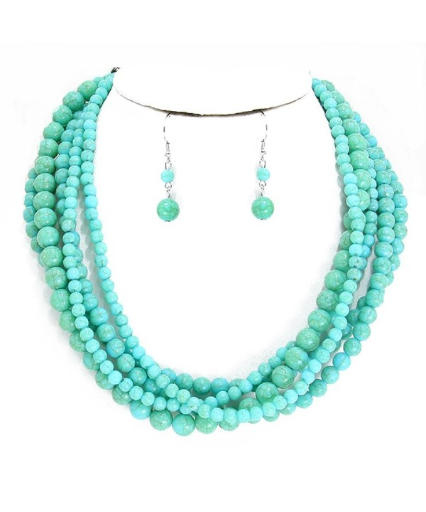 Uniklook Collection Turquoise Simulated Stone Statement