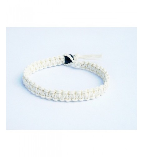 White Surfer Hawaiian Style Bracelet
