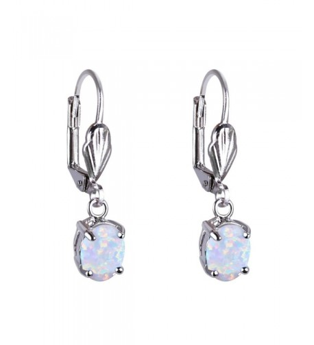 KELITCH Created Opal Dangles Leverback Earrings