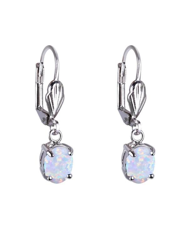 KELITCH Created Opal Dangles Leverback Earrings