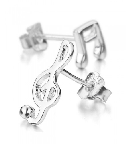 INBLUE Womens Sterling Earrings Musical