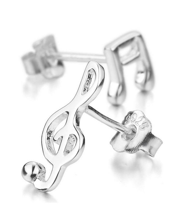 INBLUE Womens Sterling Earrings Musical