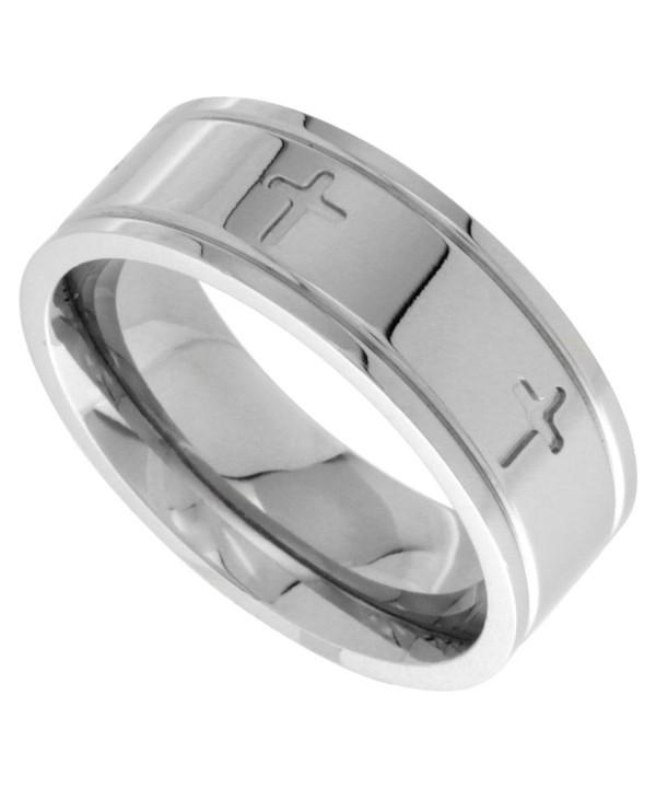 Surgical Steel Cross Wedding Comfort fit