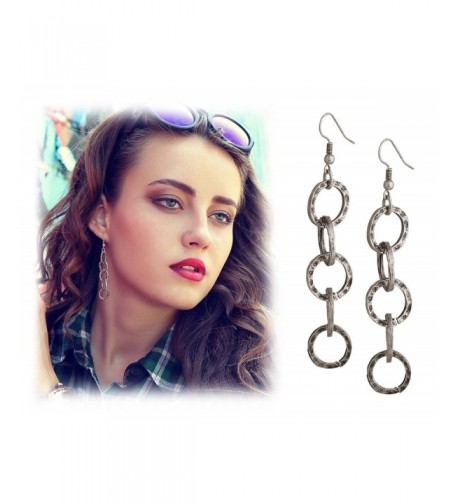 Lightweight Bohemian Turkish Hammered Earrings