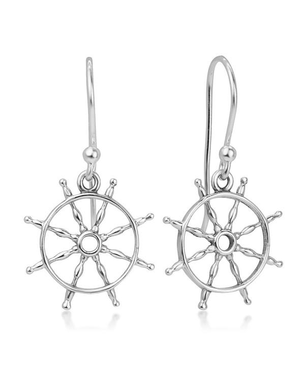 Sterling Silver Sailor Symbol Earrings