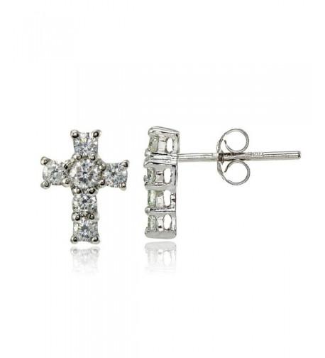 Sterling Silver Zirconia Studded Earrings