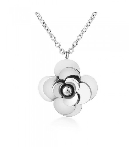 Lazycat Stainless Plated Blossom Necklaces