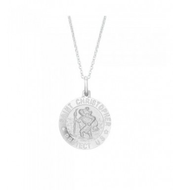 Sterling Silver Christopher Pendant Necklace