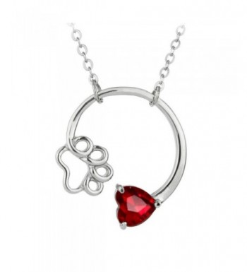 Silver Birthstone Crystal Pendant Necklace