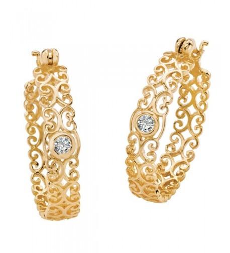 Zirconia Sterling Silver Filigree Earrings