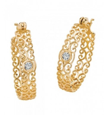Zirconia Sterling Silver Filigree Earrings