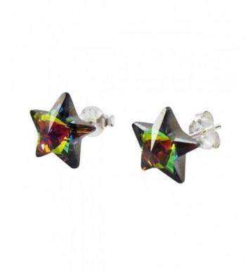 Rainbow Crystal Sterling Silver Earrings