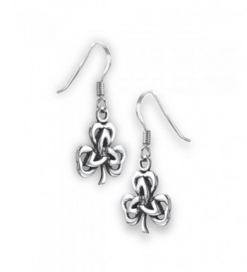 Sterling Silver Shamrock Triquetra Earrings
