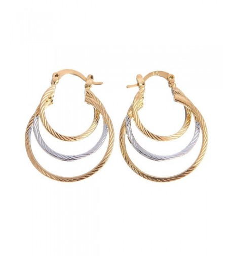 Followmoon Gold Plated Womens Earrings