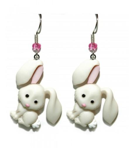 White Easter Dangle Earrings H066