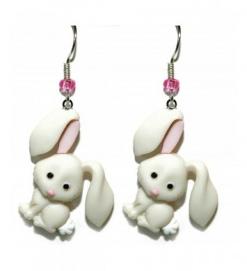 White Easter Dangle Earrings H066