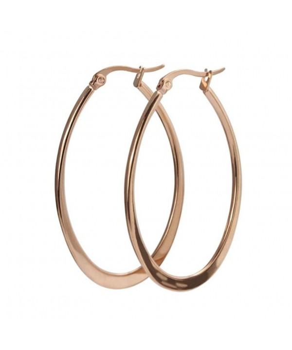 Plated Stainless Click Top Earrings 47 7mm