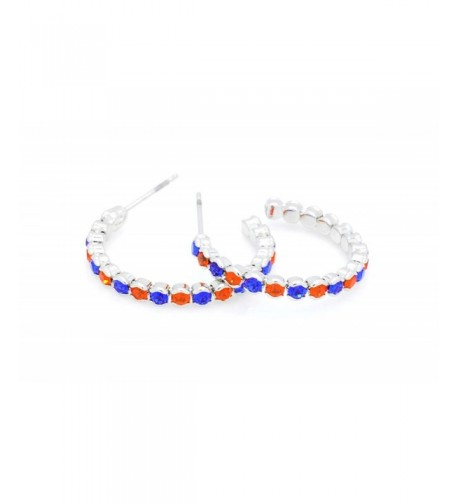 DELUXE CRYSTAL HOOP EARRINGS LIGHTWEIGHT