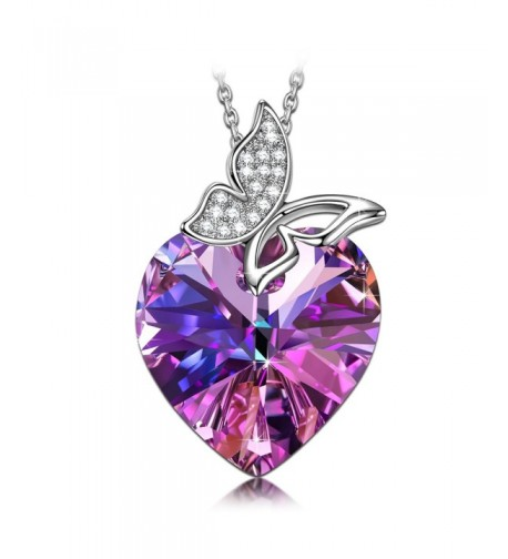 SIVERY Butterfly Pendant Necklace Swarovski