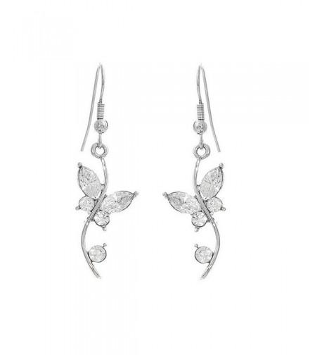 Glamorousky Butterfly Earrings Austrian Crystals