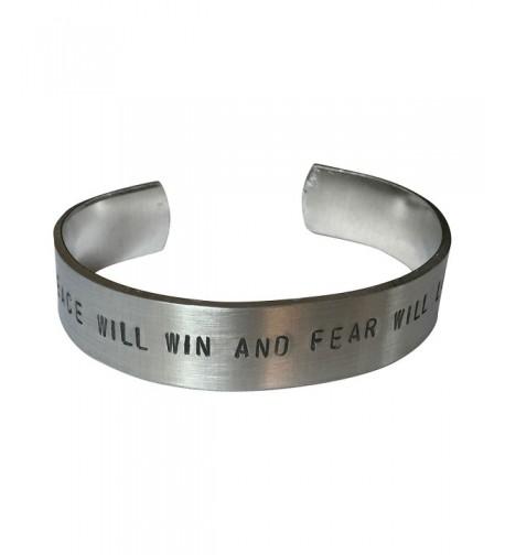 Peace Hand Stamped Aluminum Bracelet
