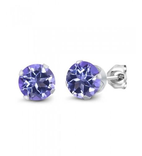 Sterling Silver Purple Mystic Earrings