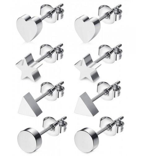 JOERICA Pairs Stainless Earrings Silver tone
