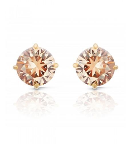 JanKuo Jewelry Champagne Zirconia Earrings