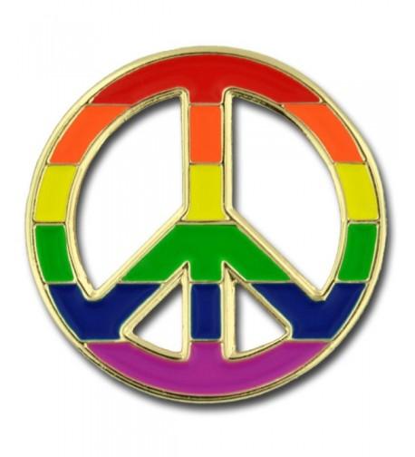 PinMarts Peace Pride Rainbow Enamel