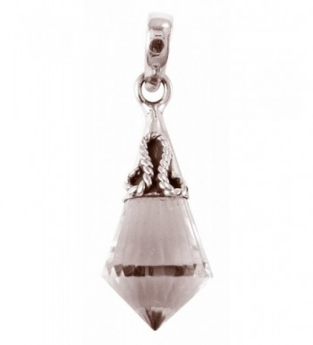 Crystal Faceted Pendulum Healing Sterling